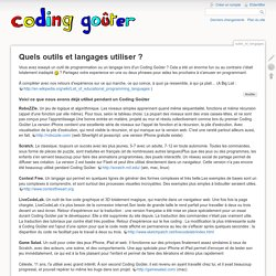 Coding Goûter - outils_et_langages