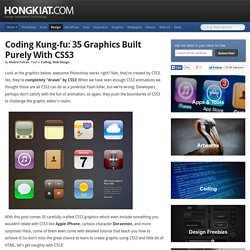 Coding Kung-fu: 35 Graphics Built Purely With CSS3