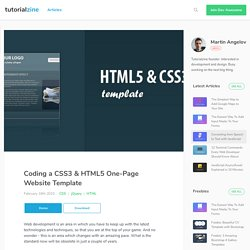 Coding a CSS3 & HTML5 One-Page Website Template