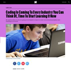 Coding Is Coming To Every Industry You Can Think Of, Time To Start Learning It Now
