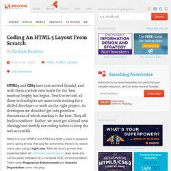 Coding A HTML 5 Layout From Scratch - Smashing Coding