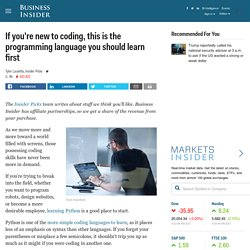 If you're new to coding, this is the programming language you should learn first