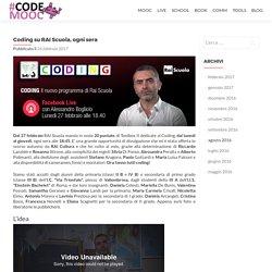 Coding su RAI Scuola, ogni sera – CodeMOOC