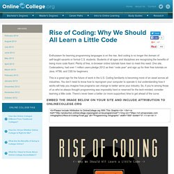 Rise of Coding: Why We Should All Learn a Little Code