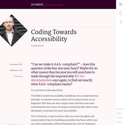 Coding Towards Accessibility