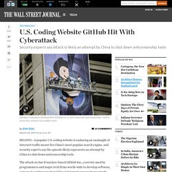 U.S. Coding Website GitHub Hit With Cyberattack