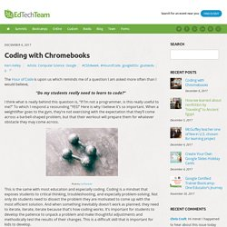 Coding with Chromebooks