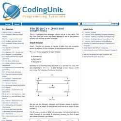 CodingUnit Programming Tutorials