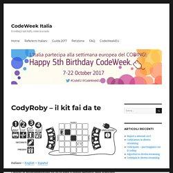 CodyRoby – il kit fai da te – codeweek.it