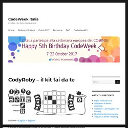CodyRoby – il kit fai da te – codeweek.it