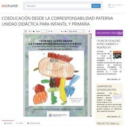 ⭐COEDUCACIÓN DESDE LA CORRESPONSABILIDAD PATERNA UNIDAD DIDÁCTICA PARA INFANTIL Y PRIMARIA