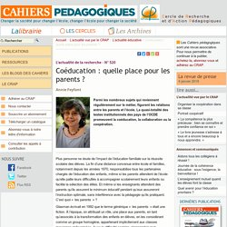 Coéducation : quelle place pour les parents