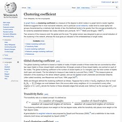 coefficient de clustering - Wikipedia, l'encyclopédie libre