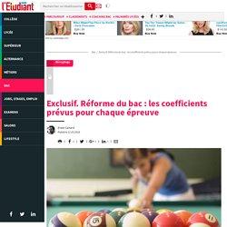 Exclusif. Réforme dubac: lescoefficients prévus pourchaqueépreuve - Letudiant.fr - L'Etudiant