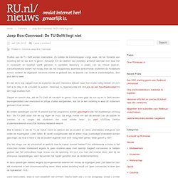 Joep Bos-Coenraad: De TU Delft liegt niet