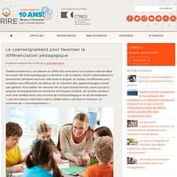 Le coenseignement pour favoriser la différenciation pédagogique