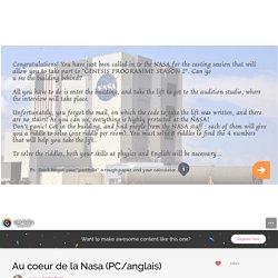 NASA (Physics & English) EG that needs to be explored 2de EURO?