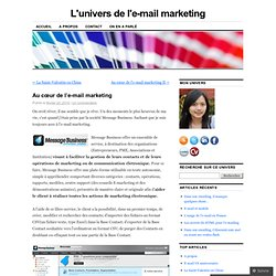 Au cœur de l'e-mail marketing « L'univers de l'e-mail marketing