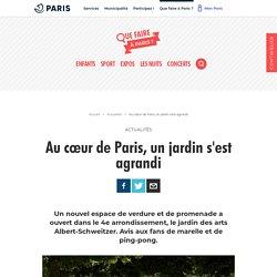Au cœur de Paris, un jardin s'est agrandi