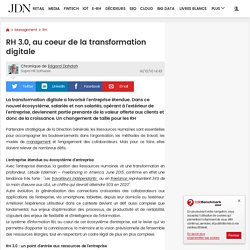 RH 3.0, au coeur de la transformation digitale
