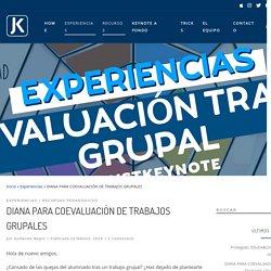 DIANA PARA COEVALUACIÓN DE TRABAJOS GRUPALES