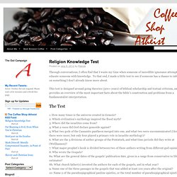 Coffee Shop Atheist | A blog about atheism, best served with friends over coffee