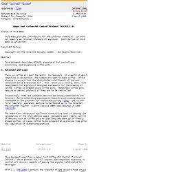 RFC 2324 - Hyper Text Coffee Pot Control Protocol (HTCPCP/1.0)