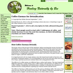 Coffee Enemas for Detoxification