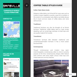 Coffee Table Styles Guide