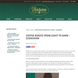Coffee Roasts From Light to Dark - Slideshow