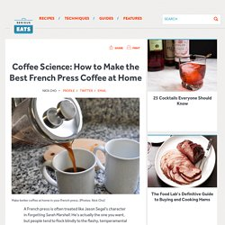 how to make french press coffee at home