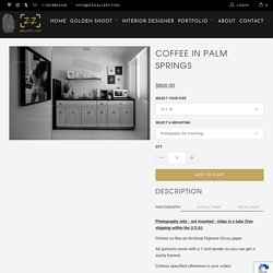 COFFEE IN PALM SPRINGS Black & White