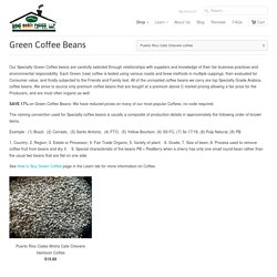 "Green Coffee Beans tagged ""Puerto Rico Cafe Chevere coffee"""