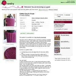 Coffee Cosy & Trivet pattern by Ilona J Delargy