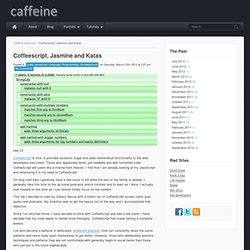 Coffeescript, Jasmine and Katas