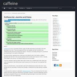 Coffeescript, Jasmine and Katas