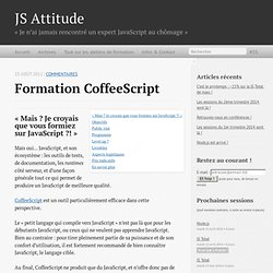 Formation CoffeeScript