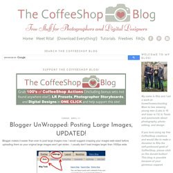 Blogger UnWrapped: Posting Large Images, UPDATED!