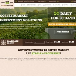 POURQUOI LES INVESTISSEMENTS SUR LE MARCHÉ DU CAFÉ SONT STABLES ET RENTABLES ?