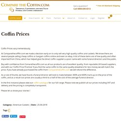 Cheapest coffin you can buy UK
