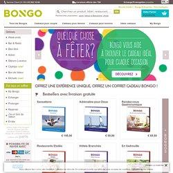 Bongo: des coffrets cadeaux pour chaque occasion