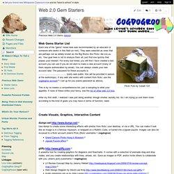 CogDogRoo - Web 2.0 Gem Starters