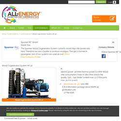 Wood Cogeneration System HK 30 - Spanner RE² GmbH - 2016 Products - All Energy