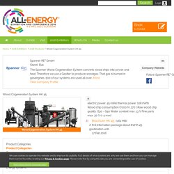 Wood Cogeneration System HK 45 - Spanner RE² GmbH - 2016 Products - All Energy