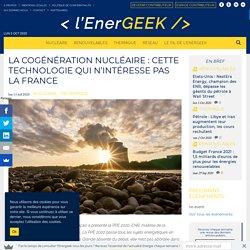La cogénération nucléaire : cette technologie qui n'intéresse pas la France