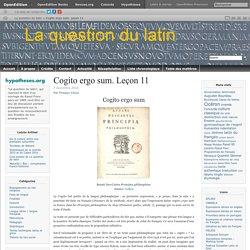 Du latin au français. Leçon 11