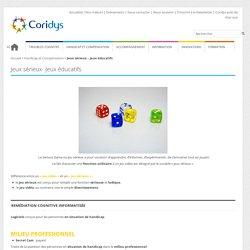 Jeux sérieux - Jeux éducatifs - ASSOCIATION CORIDYS - Troubles cognitifsASSOCIATION CORIDYS – Troubles cognitifs