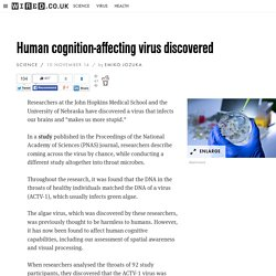 Human cognition-affecting virus discovered