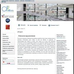 Cognition, Langues, Langage, Ergonomie - LTC axe 3