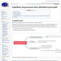 Cognition: un processus situé, distribué et perceptif